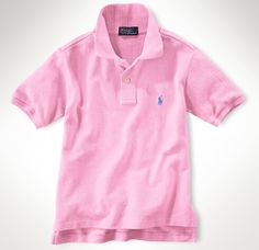 Ralph Lauren Boys Mesh Polo Shirt (Pink)