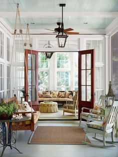 86 Log Cabin Interior Design Ideas Creating a Vintage Look in a New Home Southern Living House Paint Interior, Home Interior Design, Craftsman Interior, South Carolina, Villa, House With Porch, Low Country, Country Porches, Southern Porches
