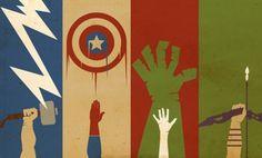 Avengers poster, Boys room mural house