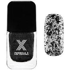 Formula X For Sephora - Xplosives Top Coats in Blast Off - black confetti  #sephora #sephorasweeps