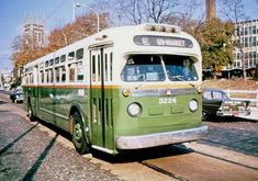 """Old Look"" GMC  diesel  bus operating on Rt.E PHILADELPHIA  1950S"