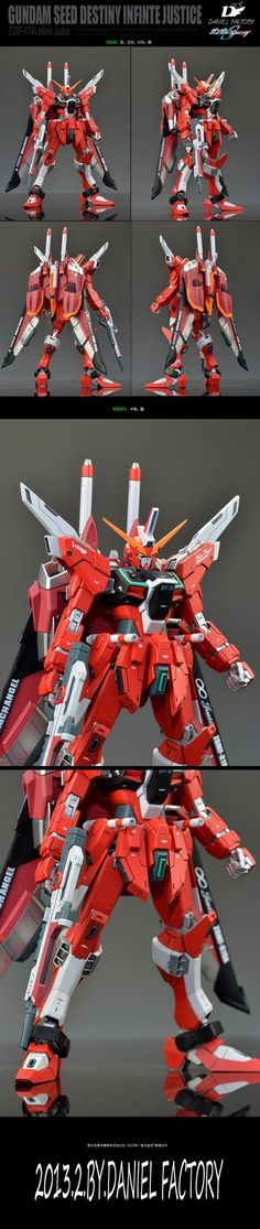 ZGMF-X19A Infinite Justice GUNDAM: 1/100 MG + VP(2013) Resin Kit Remodeling by Daniel Factory