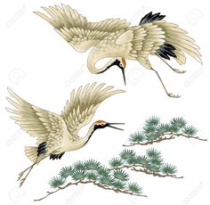 japanese crane tattoo - Google Search                                                                                                                                                                                 Plus