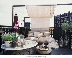 Morrocan inspired outdoor space....for our awning and outdoor area.