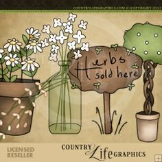 Herbs Sold Here 1 - NE Country Life Graphics Clip Art