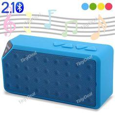 X3 Mini Bluetooth V2.1 Speaker Wireless Speaker Support TF/ U Disk USB Flash Drive Mic Bass Speaker HHITH-298073