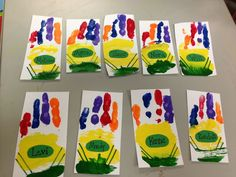 Handprint crayon boxes- perfect for The Crayon Box that Talked! Or The Day the Crayons Quit!