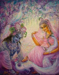 Hare Krishna ॐ: Foto Krishna Radha, Krishna Leela, Cute Krishna, Jai Shree Krishna, Lord Krishna Images, Radha Krishna Pictures, Tantra, Krishna Painting, Indian Art Paintings