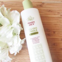 Great Conditioner to cowash natural hair with Trader Joe's Tea Tree Tingle Conditioner Product Review on @SavingOurStrand