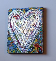 Original Heart Painting Multicolored by HeatherMontgomeryArt, $38.00