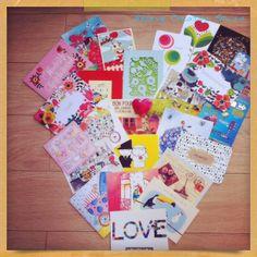 Happening at believe Creative Studio, Postcard love, collection of our favorites Surface,Textile & Graphic design #paperlove #postcards #design #blog