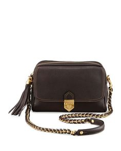 Leather+Zip-Top+Shoulder+Bag,+Chocolate+by+Eric+Javits+at+Neiman+Marcus.