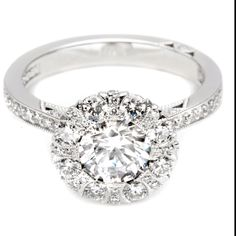 """Crown of light diamond - From Diamonds International.  I bought this ring in December.  Center stone is 1.5 ct.  It really sparkles. My daughter said """"Holy sh--, I'm blinded!!"""""""