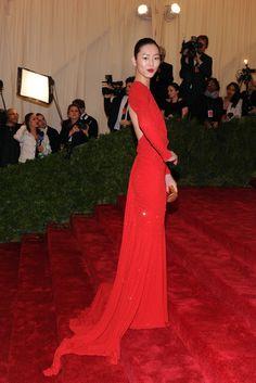 Liu Wen in Michael Kors  2012 Costume Institute Gala Red Carpet