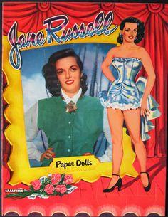 Jane Russell paper dolls.