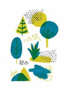 Abbey Withington - Finnish Forest - dots like sprinkles Forest Illustration, Plant Illustration, Pattern Illustration, Weird Drawings, Weird Art, Textile Prints, Art Prints, Flyer, Art Plastique