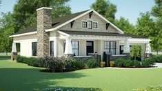 Simply Simple One Story Bungalow - 18267BE   Bungalow, Cottage, Craftsman, Northwest, Ranch, Shingle, 1st Floor Master Suite, CAD Available, Den-Office-Library-Study, PDF   Architectural Designs