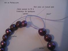 Les 4 manières de finir un collier en perles