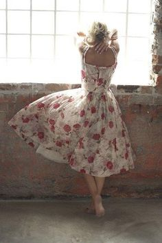 I would love to have this dress so I have to start looking or start sewing.