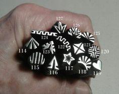 Handmade Metal Stamps, jewelry making tools, metal stamping tools, leather stamping, ink stamping, metal punch, original design, craft tool