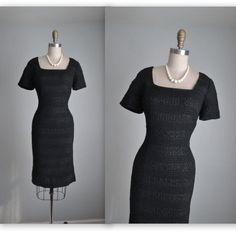 50's Cocktail Dress // Vintage 1950's Black by TheVintageStudio