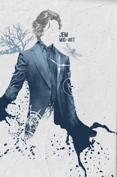 A creative simplistic drawing of Jem Carstairs. The Infernal Devices.