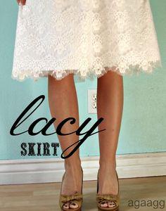 DIY Lace Skirt Tutorial