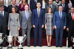 NewMyRoyals:  Spanish Royals attended National Sport Awards 2014, Royal Palace, November 16, 2015-Queen Sofia, King Juan Carlos, King Felipe and Queen Letizia