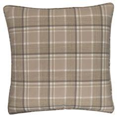 Bowland Check Natural Square Cushion