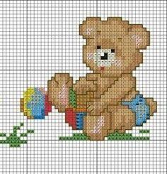 Cross Stitch Boards, Cute Cross Stitch, Cross Stitch Animals, Kirigami, New Baby Products, Hello Kitty, Teddy Bear, Sewing, Children