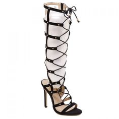 Wholesale Stylish Hollow Out and Lace-Up Design Women's Knee-High Boots Only $16.33 Drop Shipping | TrendsGal.com