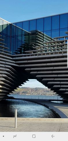 Newport on Tay through arch of the new V&A, Dundee Home Building Design, Building A House, V & A Museum, Kengo Kuma, The V&a, Dundee, Design Museum, Cartography, Newport