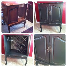 Thrift Store Find For $15  Early 1950u0027s TV Cabinet Up Cycled Into A Wine Bar