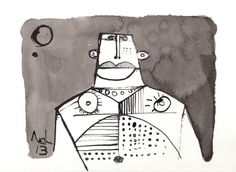 Sub Lunam No. 7  Ink Drawing on Paper by mellonfineart on Etsy, $50.00