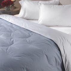 @Overstock - Oversized reversible down comforter contributes to a great night of sleep Luxury bedding features a 100-percent cotton shell Bedding features 300 thread count with an end-to-end box stitch pattern http://www.overstock.com/Bedding-Bath/Luxury-Twin-Size-Reversible-Down-Comforter/2082202/product.html?CID=214117 $43.64