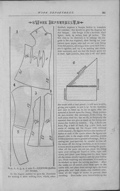 Godey's Lady's Book Volume 101 July To December 1880.  Bodice pattern
