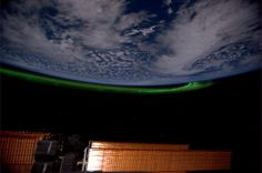 ESA astronaut André Kuipers looks down on the Aurora Borealis, or Northern Lights, from his vantage point on the International Space Station. André is on the orbital outpost for ESA's PromISSe long-duration mission.