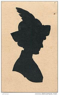 Vintage Silhouette / Denmark Vintage Silhouette, Black Silhouette, Silhouette Cameo, Silouette Art, Maria Goretti, Portraits, Cut Work, Vintage Bar, Thomas Jefferson