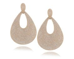 Le Vian strawberry gold earrings with vanilla diamonds at D'Orazio & Associates.