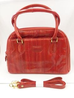 Lee Sands Eelskin Red Framed Double Coin Purse