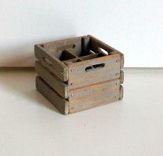Miniature Milk Crate (1 inch dollhouse scale). $15.00, via Etsy.