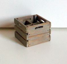 Miniature Milk Crate (1 inch dollhouse scale). $15.00, via Etsy.