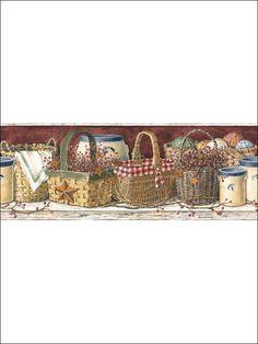 Basket Border - PC3963DDMP from Mural Portfolio II book