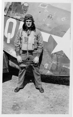 Unknown Pilot with well used P-51B.