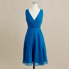 I've always liked J. Crew's bridesmaids dresses.  I like the idea of picking a color and length and then letting each bridesmaid choose her own cut.  J. Crew's dresses are fairly affordable, too.