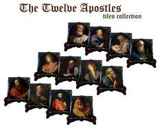 Guarda questo articolo nel mio negozio Etsy https://www.etsy.com/it/listing/527472373/religious-gifts-twelve-apostles-tiles