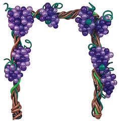 Wine Chateau Arch - This arch is completely air-filled so it will perform well even in summer. It's perfect to create ahead and also great for wine parties and many other related décor applications. Balloon Hat, Balloon Flowers, Balloon Garland, Balloon Stands, Balloon Display, Balloon Columns, Balloon Arch, Balloon Centerpieces, Balloon Decorations