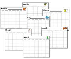 Kindergarten Calendar Worksheets - Confessions of a Homeschooler