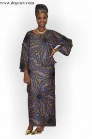 Brown and blue African Print Wrapper Attire  Item number: DPTW314$49.99