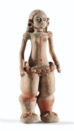 Figurine féminine<br>Style de Xalitla<br>Etat de Guerrero, Mexique<br>Préclassique, 900-600 av. J.-C. | lot | Sotheby's